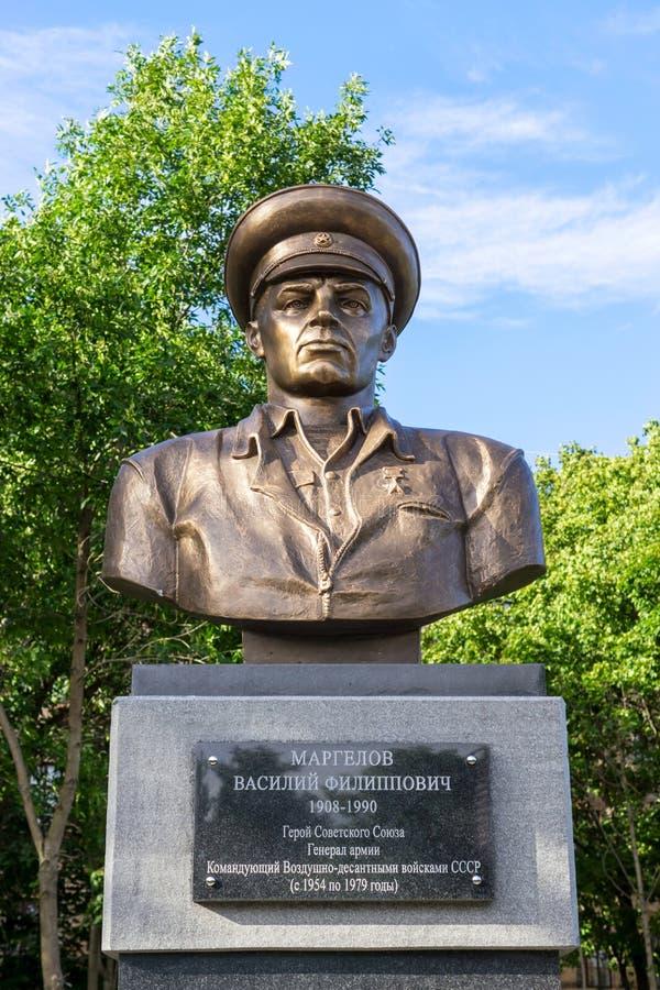 Rebente ao comandante de tropas legendário da aterrissagem V f Margelov foto de stock