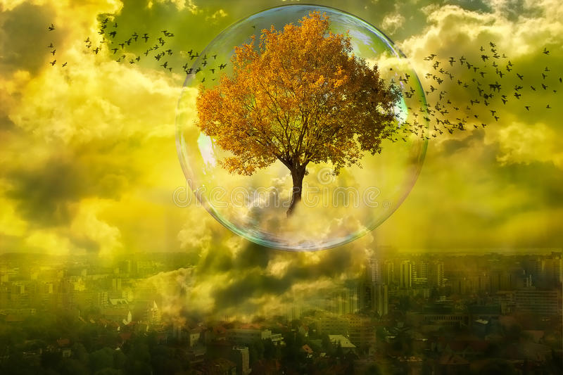 The rebirth of nature stock illustration
