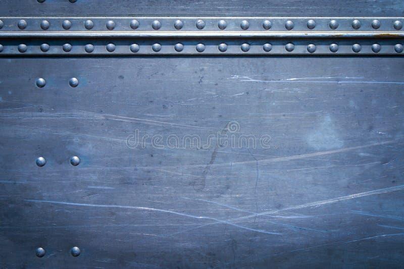 Rebites no metal imagem de stock