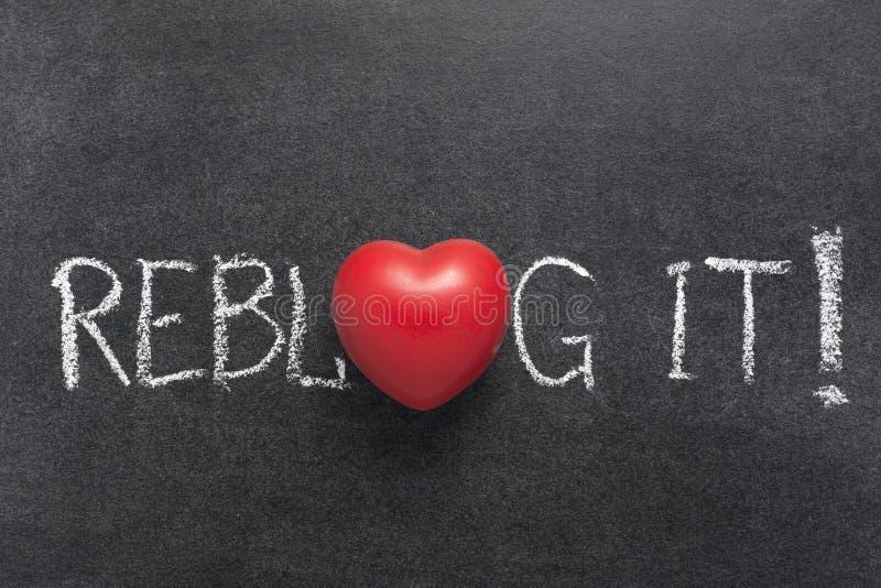 Reblog It Stock Image Image Of Symbol Handwritten 112634693