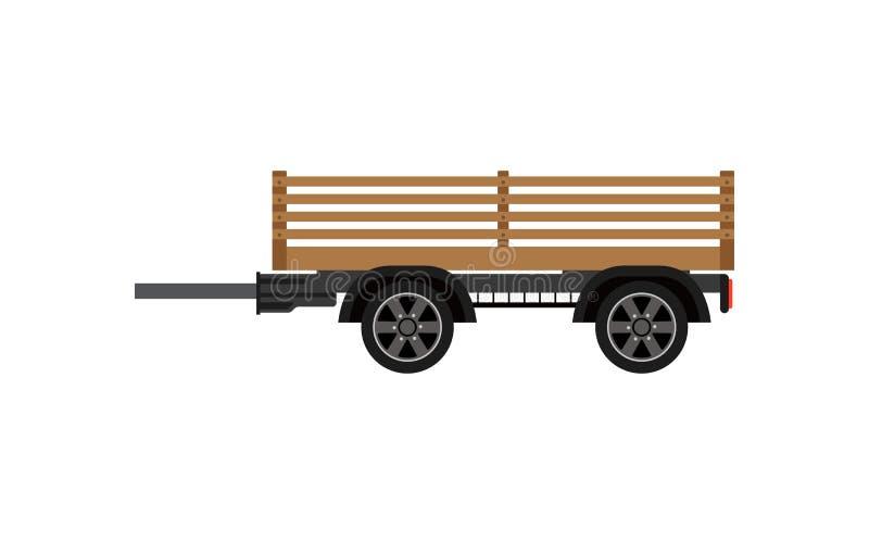 Reboque de madeira agrícola ícone isolado ilustração do vetor