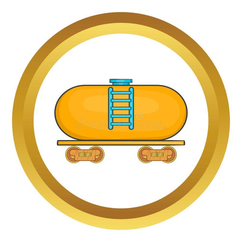 Reboque do petroleiro no ícone do trem ilustração royalty free