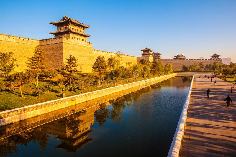 The rebuilding city wall of Datong. Datong is situated in the north of Chinese Shanxi. It is an ancient city with a history of more than 2400 years. It is one stock image