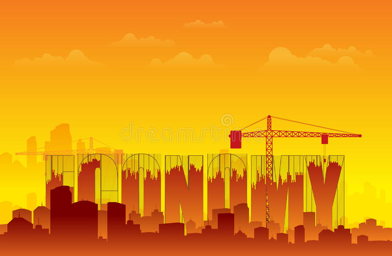 Rebuilding Economy royalty free illustration