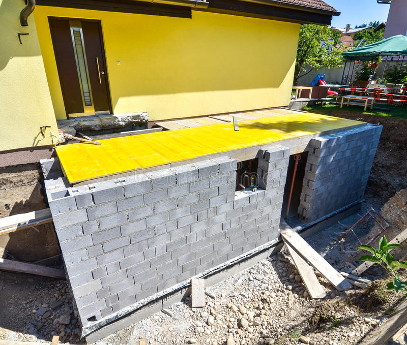 Rebuilding a family house stock photography