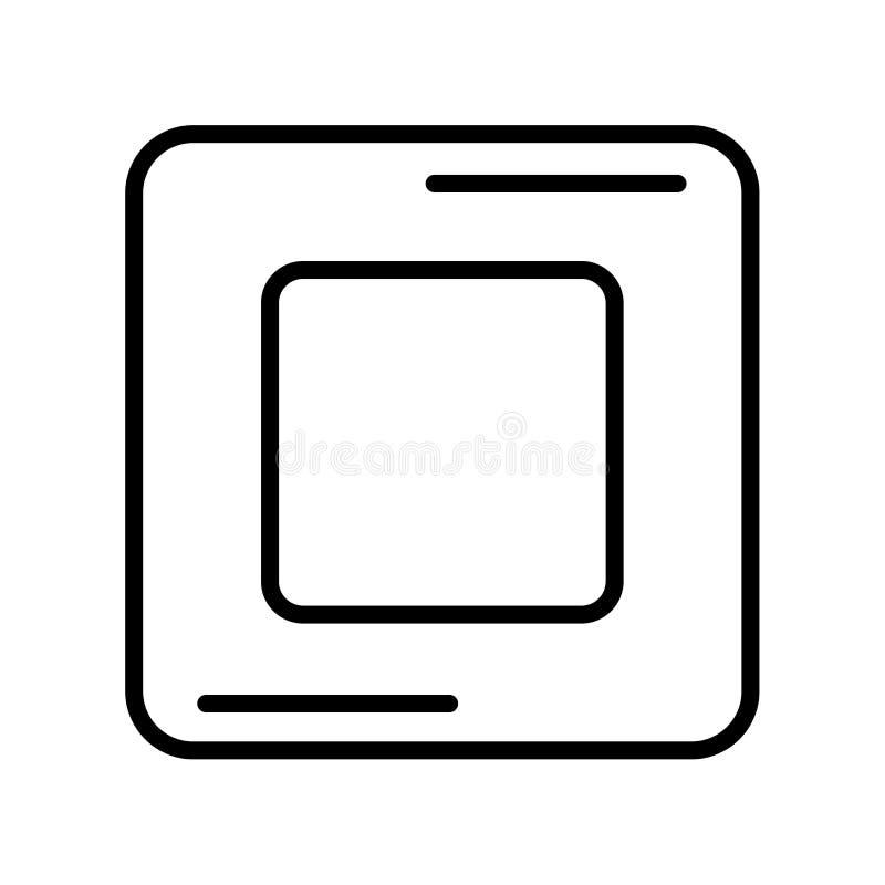 Rec pictogramvector op witte achtergrond, Rec teken wordt geïsoleerd dat stock illustratie