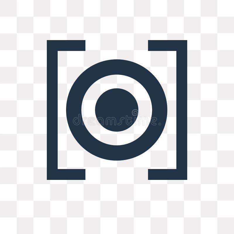 Rec vectordiepictogram op transparante achtergrond, Rec transpa wordt geïsoleerd stock illustratie