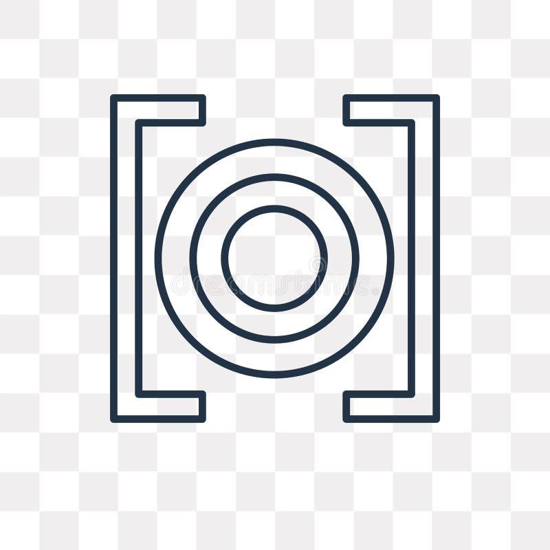 Rec wektorowa ikona odizolowywająca na przejrzystym tle, liniowy Rec t ilustracja wektor