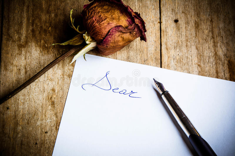 Recalling an old forgotten love. royalty free stock photo