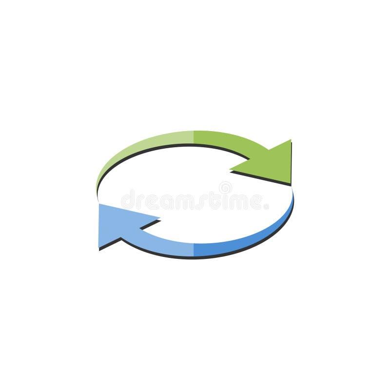 Recarregue o ?cone, converso do dinheiro, logotipo da troca da seta ilustração do vetor