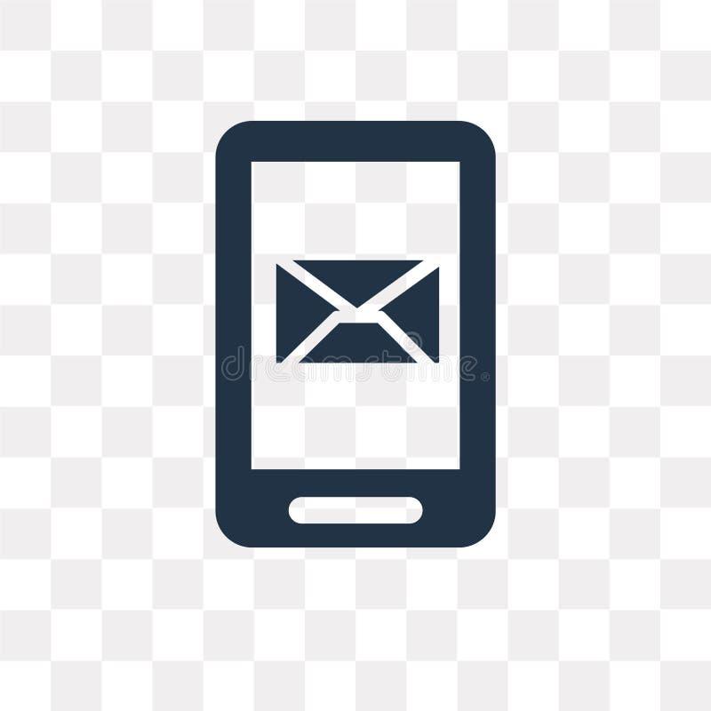 Recebendo o ícone do vetor do email isolado no fundo transparente, ilustração royalty free
