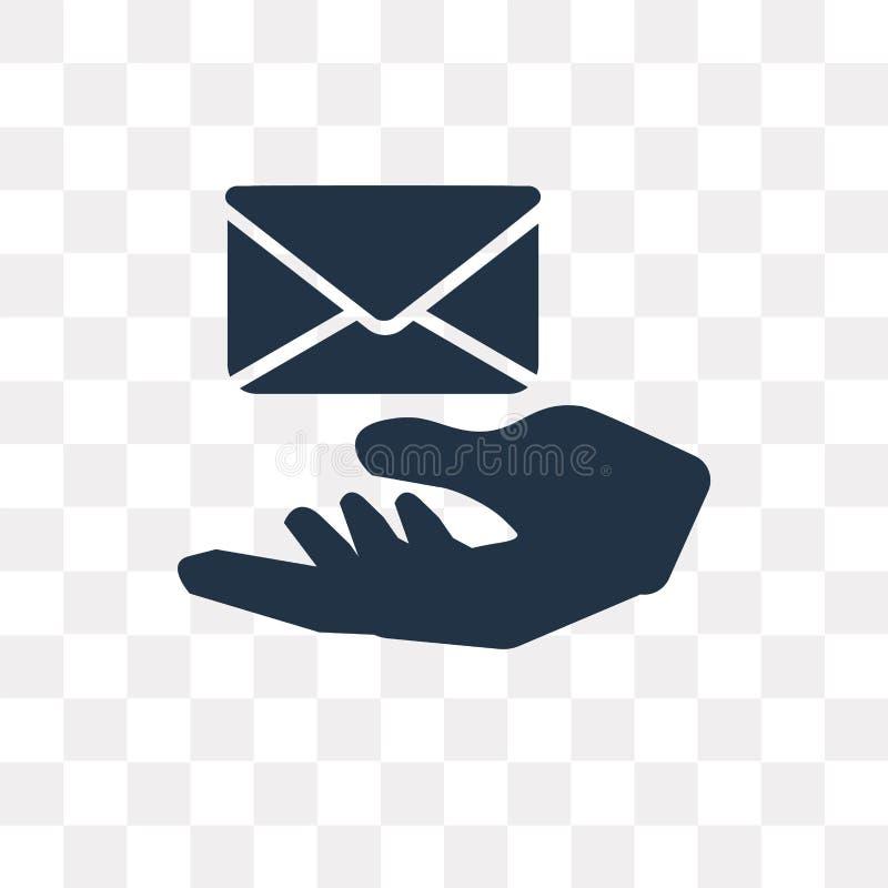 Recebendo o ícone do vetor do email isolado no fundo transparente, ilustração do vetor