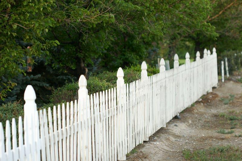 Receding fence stock photos