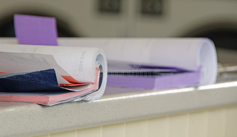 Receipt accounting book stock images