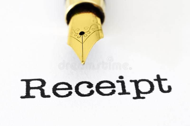 Download Receipt stock illustration. Image of financial, form - 33438331