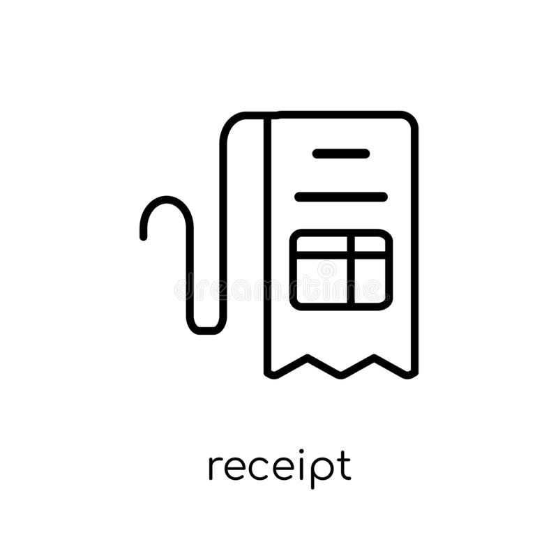 Receipt icon from collection. vector illustration
