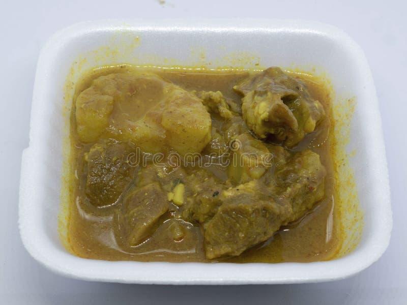 A receita do caril da carne de carneiro é típica de Bengal e de Bihar Feito com carne e especiarias de cabra como o masala do gar imagens de stock royalty free