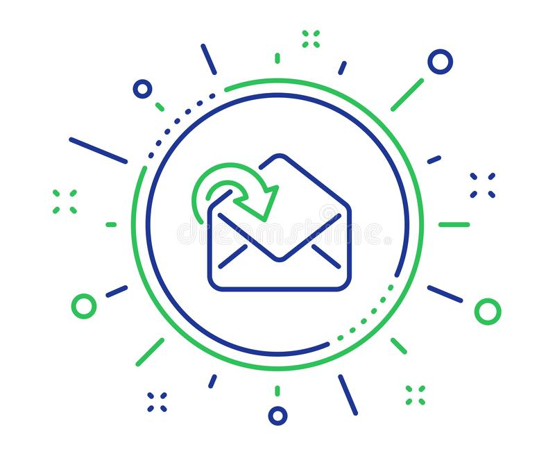 Receive Mail download line icon. Incoming Messages correspondence sign. Vector vector illustration