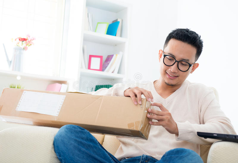 Received An Express Parcel Royalty Free Stock Photos