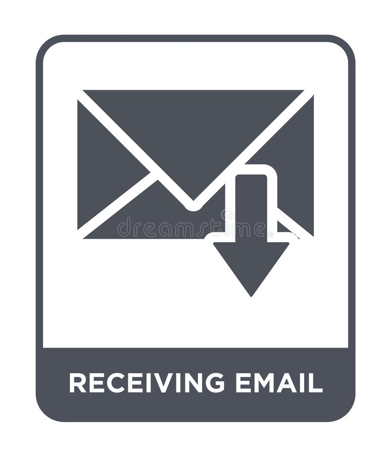 Receiving email icon in trendy design style. receiving email icon isolated on white background. receiving email vector icon simple. And modern flat symbol for stock illustration