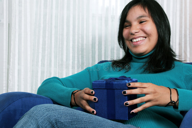 Download Receiving a gift stock photo. Image of nineteen, woman - 3021990