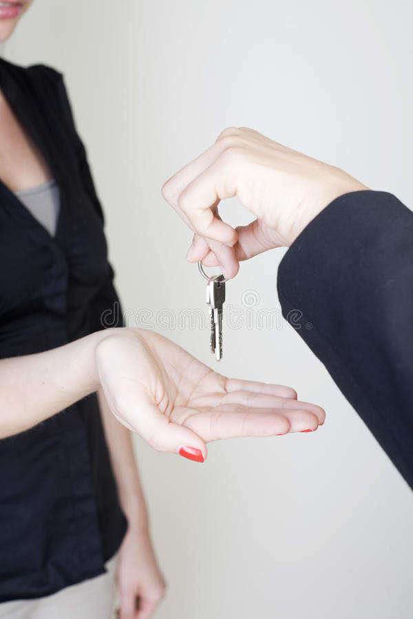 Receiving keys stock photos