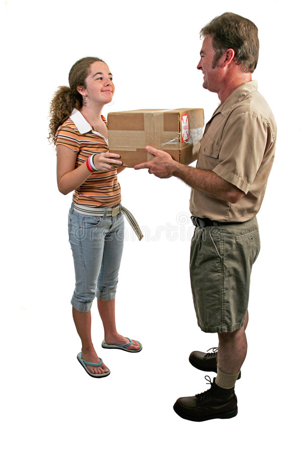 Receiving a Package 2 stock image