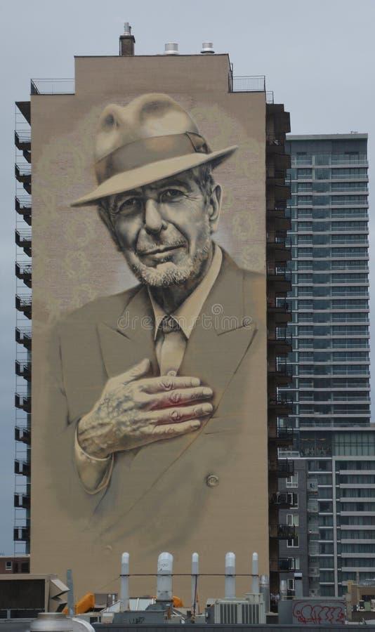 Recent, groot Leonard Cohen royalty-vrije stock fotografie