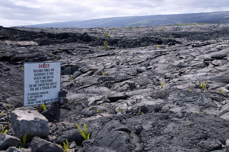 Recent lava flow, Kalapana, Hawaii royalty free stock photography
