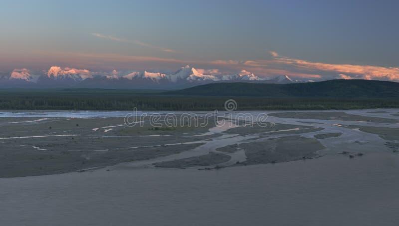 Recent licht panorama stock fotografie