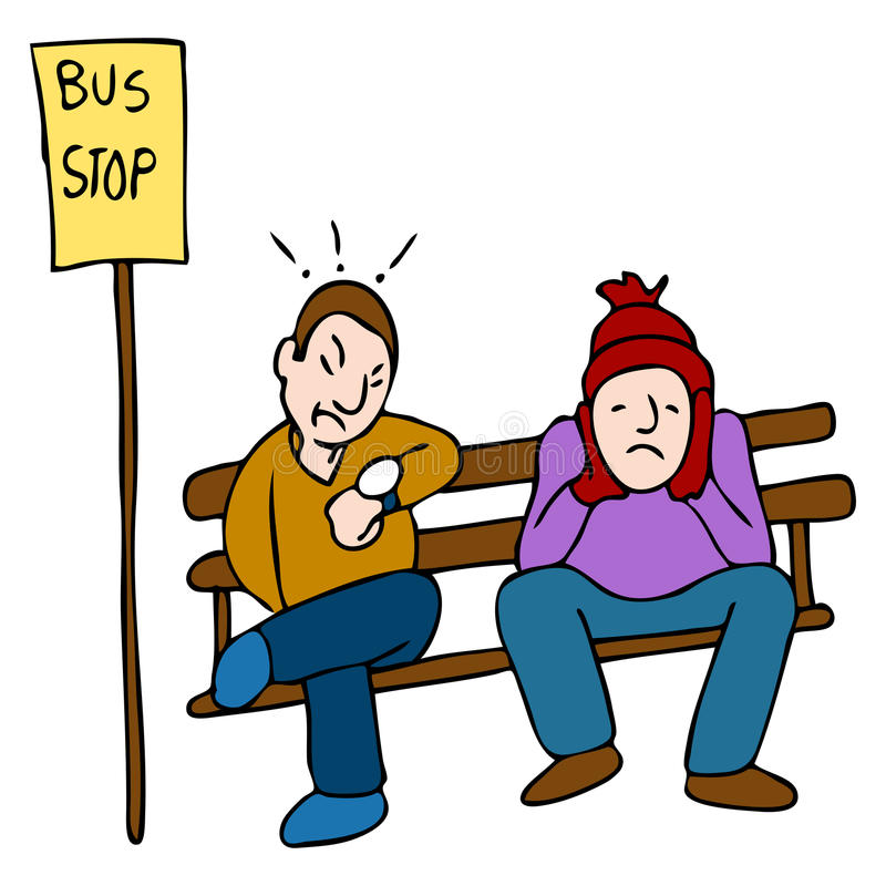 Recente Bus royalty-vrije illustratie