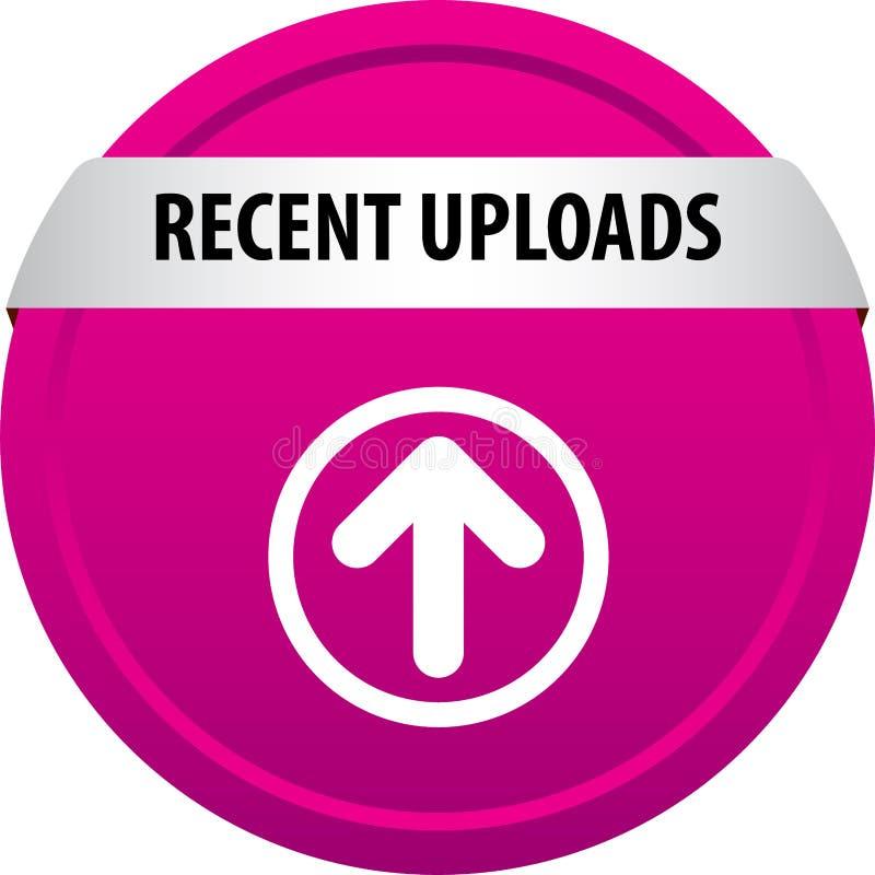 Recente carica il bottone di web illustrazione vettoriale