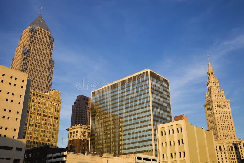 Recente middag in Cleveland van de binnenstad royalty-vrije stock fotografie