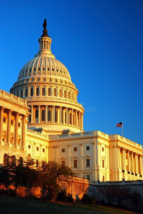 Recente Middaglicht op het Capitool van de V.S. royalty-vrije stock foto's