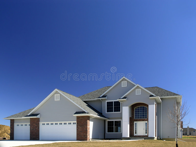 Recentemente costruito a casa immagine stock libera da diritti