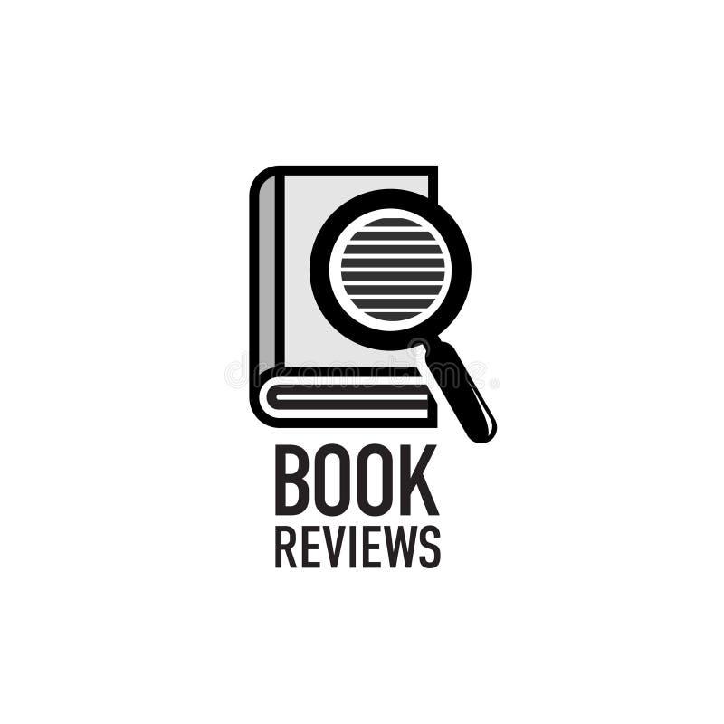Recenzje książki usługują loga szablon royalty ilustracja