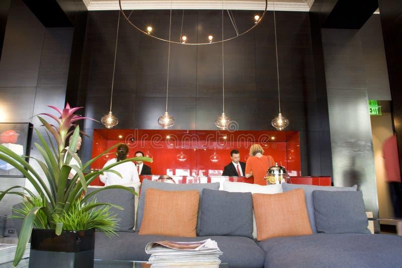 Recepção do hotel Max Seattle foto de stock royalty free
