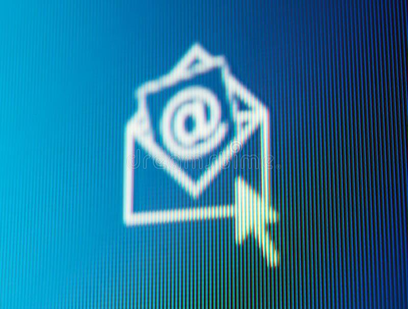 Recepção do mensagem de correio electrónico. fotos de stock royalty free