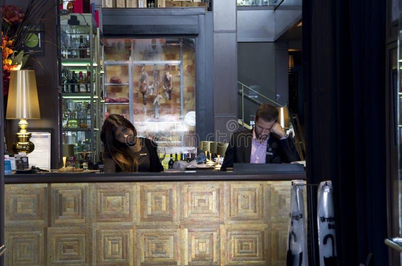 Recepção do restaurante da barra fotos de stock royalty free