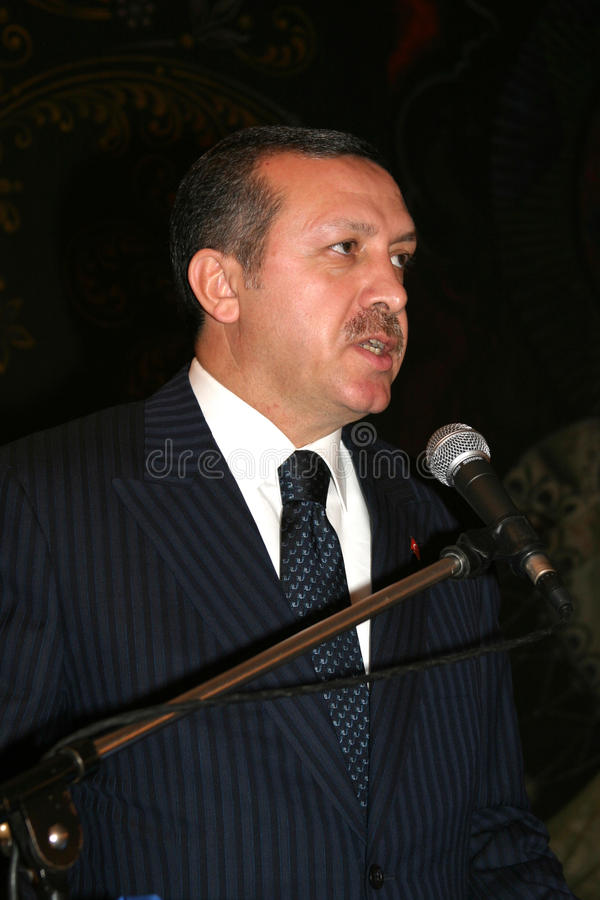 Recep Tayyip Erdogan immagine stock