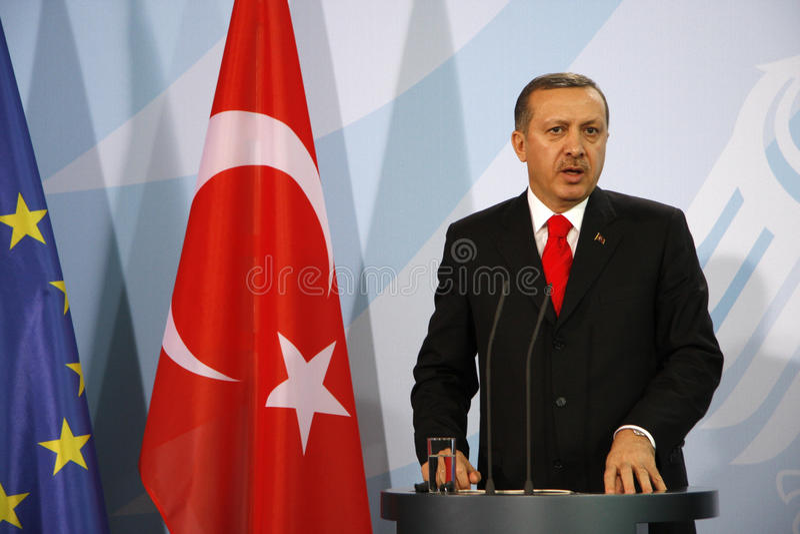 Recep Tayyip Erdogan fotografia stock