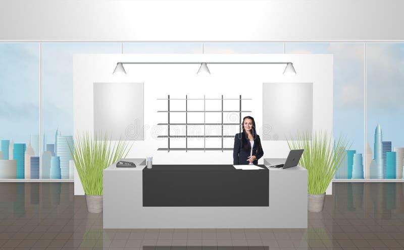 recepción stock de ilustración