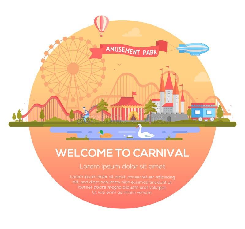 Recepción al carnaval - ejemplo moderno del vector ilustración del vector