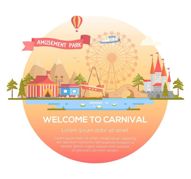 Recepción al carnaval - ejemplo moderno del vector libre illustration