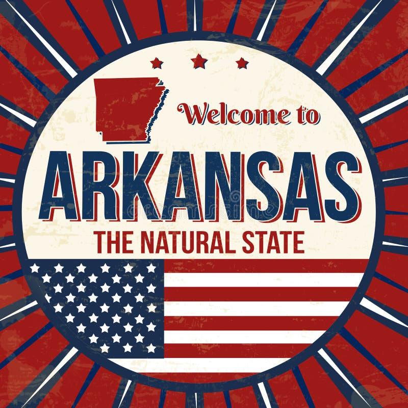 Recepción al cartel del grunge del vintage de Arkansas libre illustration