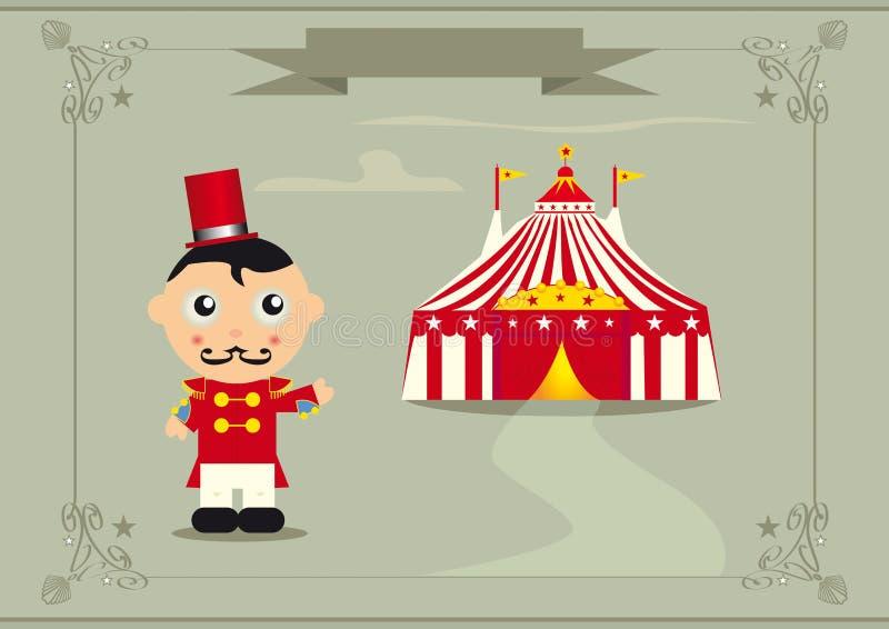 Recepción al circo stock de ilustración