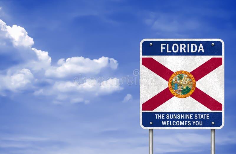 Recepción al estado de la Florida stock de ilustración