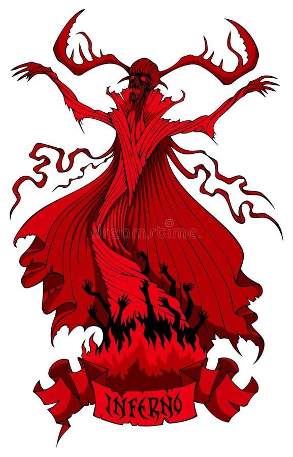 Recepción al infierno stock de ilustración
