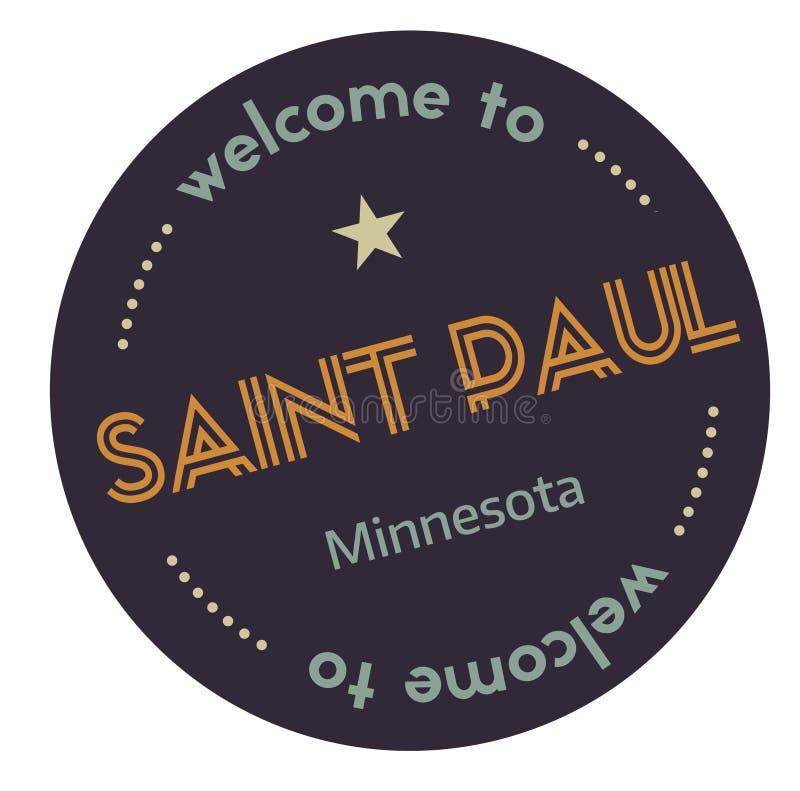 Recepción al santo Paul Minnesota stock de ilustración