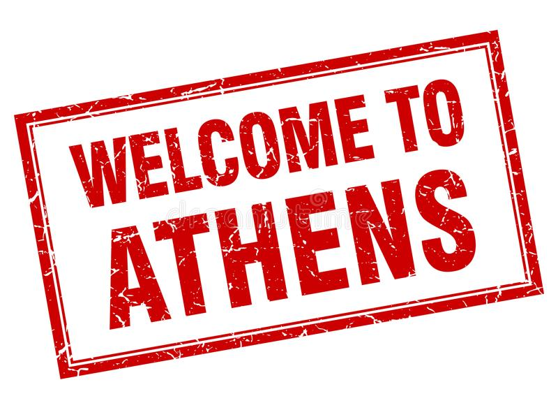 Recepción al sello de Atenas libre illustration
